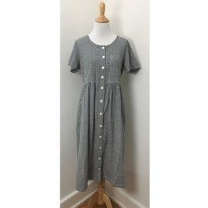 Vintage 90s Gingham Midi Dress